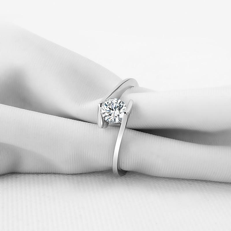 Classic Round Solitaire Created White Diamond Ring