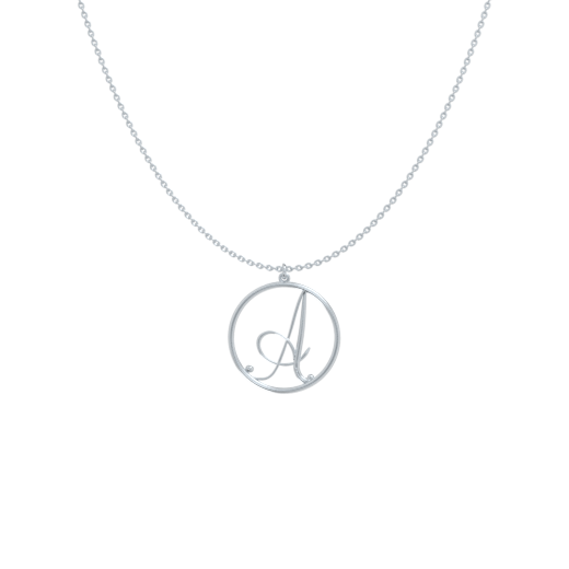 Letter In A Circle Necklace A-Z