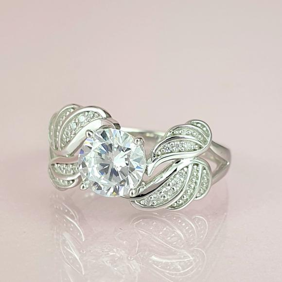 In The Arms Of An Angel Sterling Silver Guardian Ring