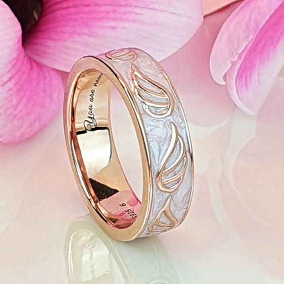Just a Thought Away Sterling Silver Angel Wings Ring