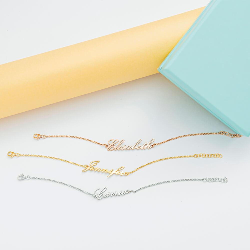 Personalized Cursive Name Bracelet