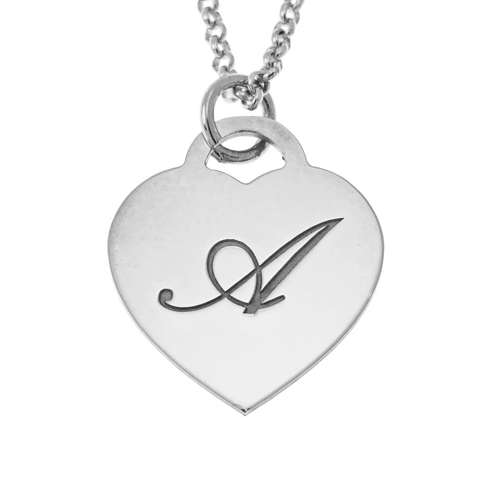 Small Initial Heart Necklace