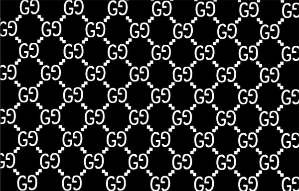 Gucci Monogram Pattern Vinyl Painting Stencil Sheet