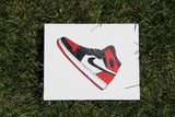 "Canvas Panel ""Air Jordan 1 Bred Toe"""