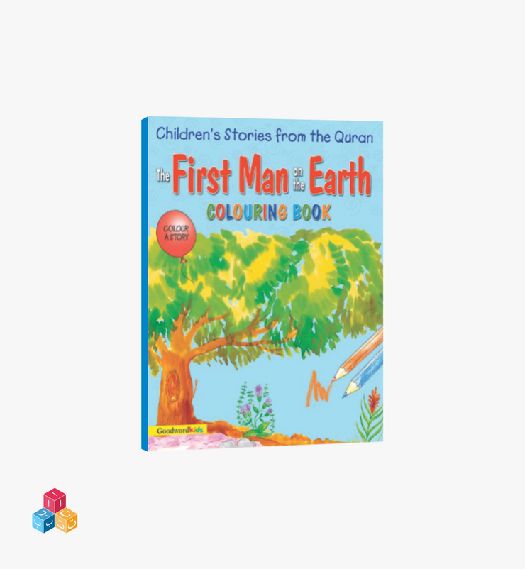 The first man on the earth-  Colouring Story Book