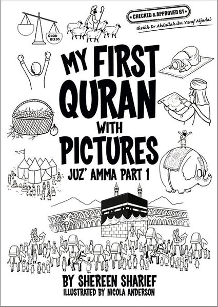 Colouring book - My first Quran with Pictures - Juz Amma part 1