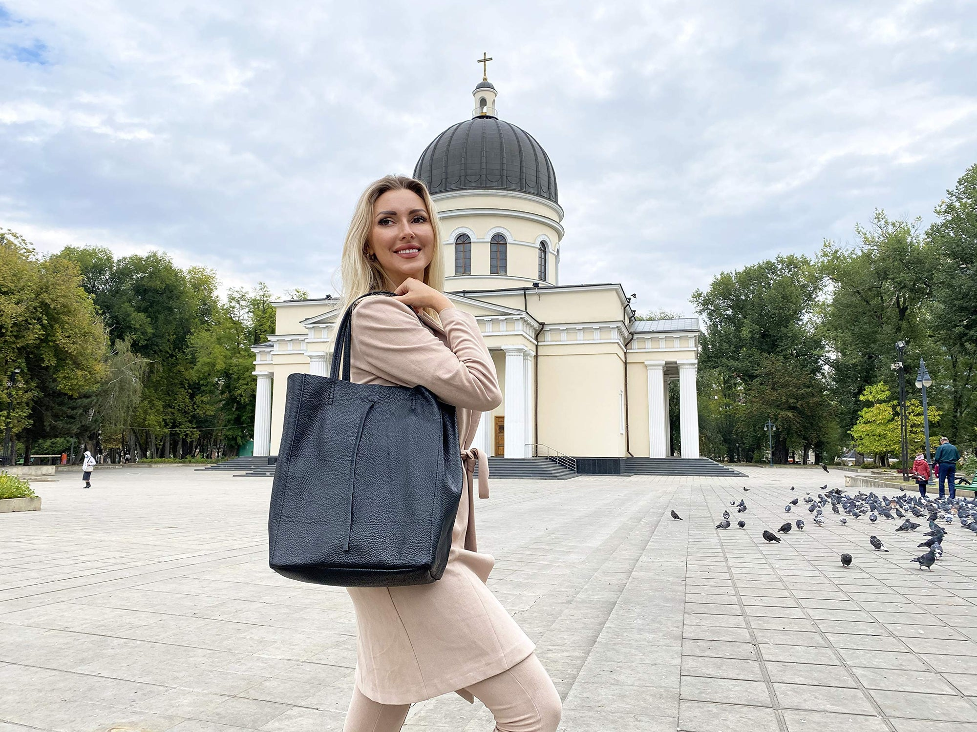 Shopper Handtasche | aus echtem Leder | MADE IN ITALY