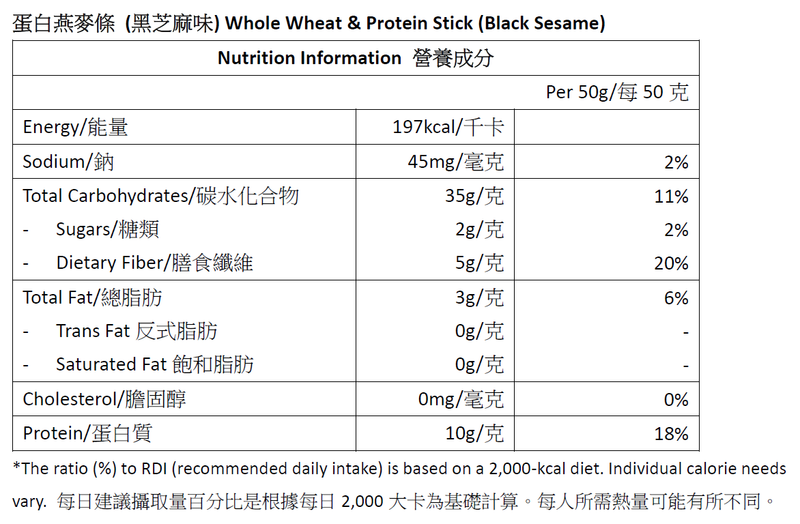 Dashin Whole Wheat & Protein Sticks (Black Sesame)