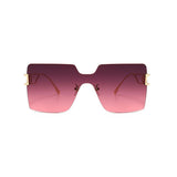 5 Colors Gradient Square Shape Rimless Sunglasses