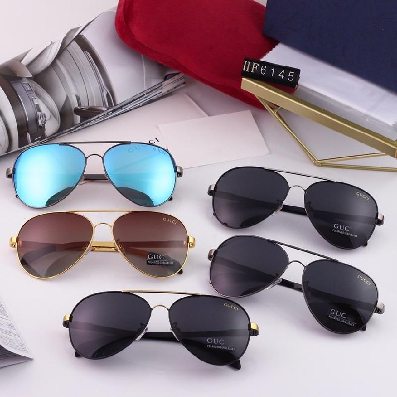 5 Colors Classic Double Bridge Men's Polarized Sunglasses