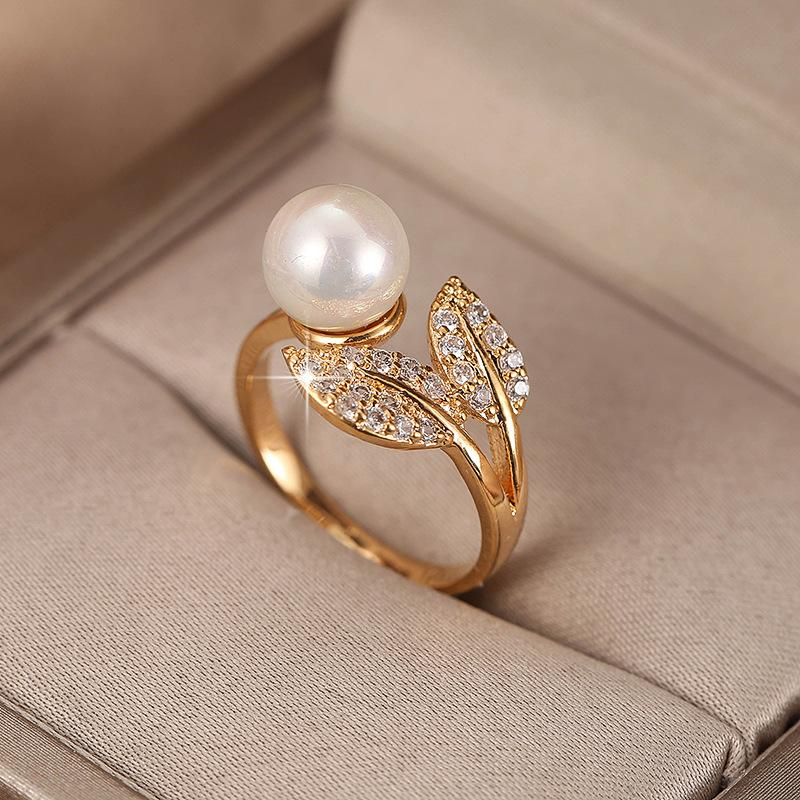 Trendy Leaf Open Ring