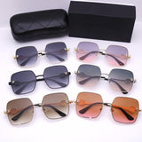 6 Colors Hollow Out Letter Thin Metal Frame Sunglasses