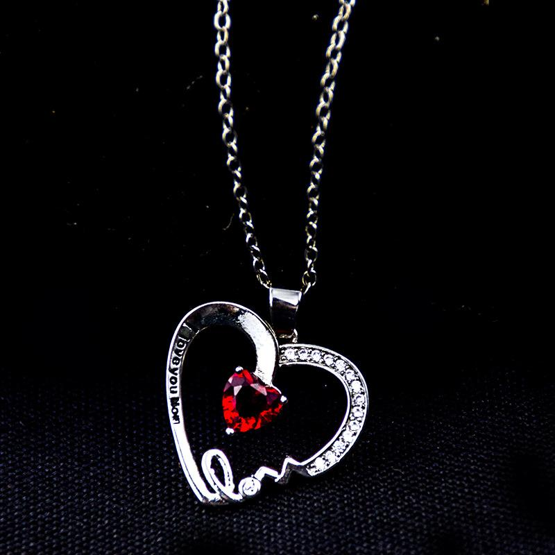 Heart,  I love your mother's Day Necklace