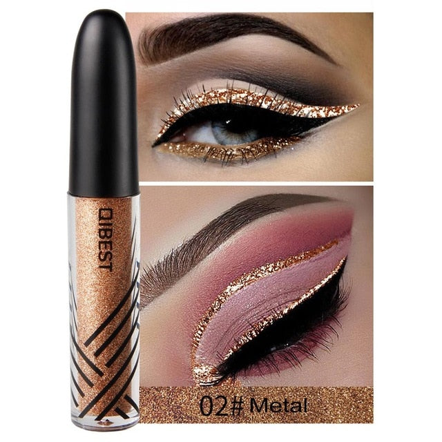 13 Colors Eyeliner Liquid Metallic Shiny Smoky Modify Eyeshadow