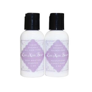 Vegan and Sulfate Free Travel Shampoo and Conditioner