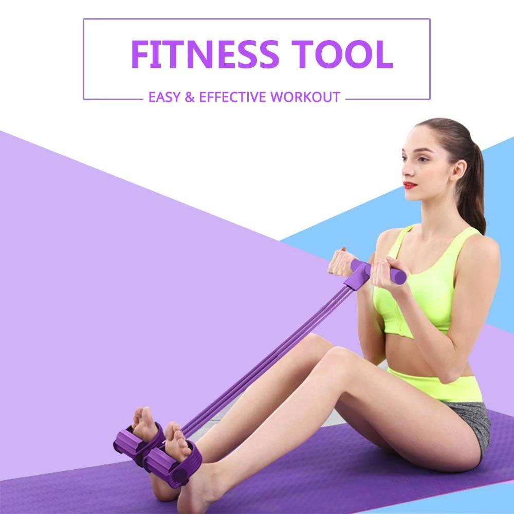 Fitness Portable Resistance Band with Pedal