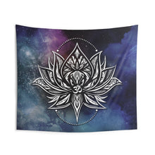 Load image into Gallery viewer, Tribal Lotus OM Wall Tapestry