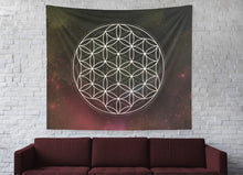 Load image into Gallery viewer, Flower Of Life Sacred Geometry Wall Tapestry