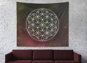 Flower Of Life Sacred Geometry Wall Tapestry