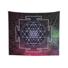 Load image into Gallery viewer, Sri Yantra Sacred Geometry Tapestry