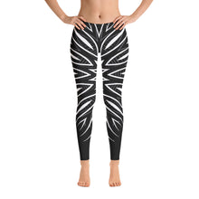 Load image into Gallery viewer, Black + White Abstract Leggings