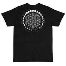Load image into Gallery viewer, Flower Of Life Moon Phases T-Shirt