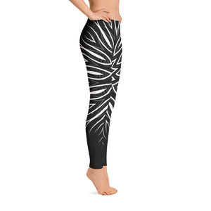 Black + White Abstract Leggings