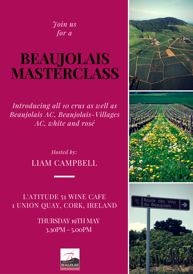 Beaujolais tasting with Liam Campbell at l'Atitude51