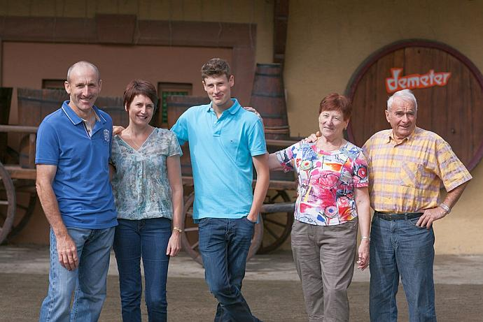 The Meyer family of winery Domaine Eugène Meyer in Alsace