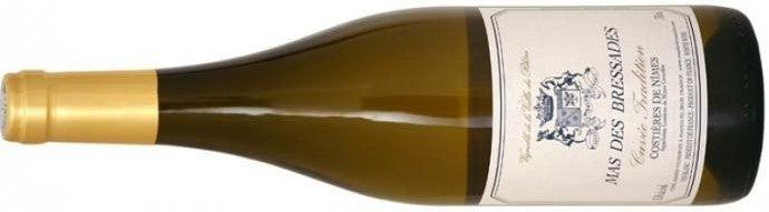 Bottle of white wine from Mas des Bressades in the Costières de Nîmes in southern France on the menu at Liss Ard at A Taste of West Cork