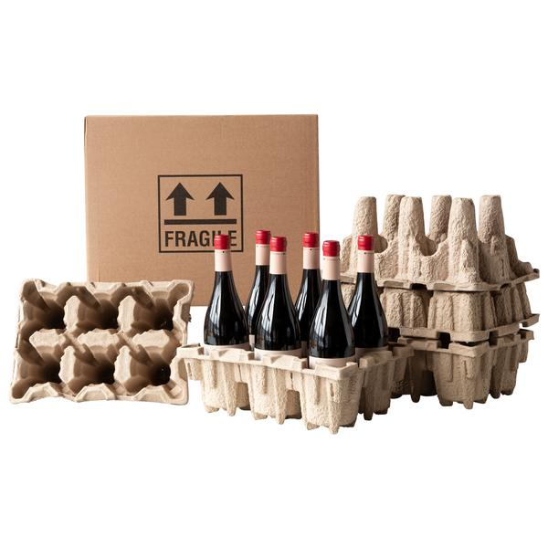 Wine packaging made from recycled materials