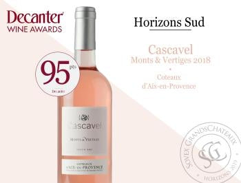 Award of a gold medal to Cascavel rosé at the Decanter World Wine Awards
