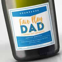 Personalised champagne for Fathers' Day