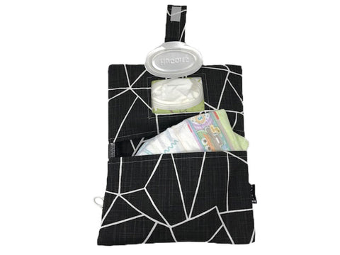 Black Shattered Glass Diaper Clutch by Rilos + MiMi