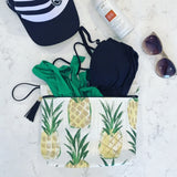 Pineapple Makeup Bag with BPA Free Lining and Machine Washable