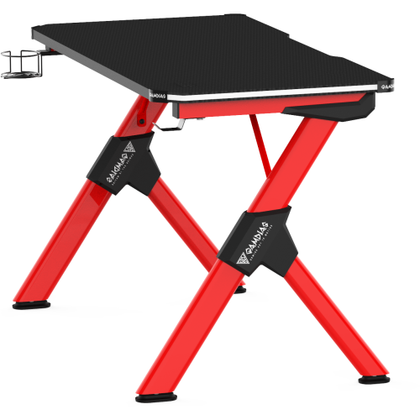 Gamdias Daedalus M2 RGB Gaming Desk Black Red - Vektra PC