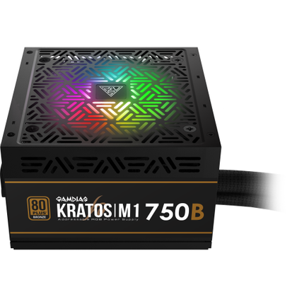 Gamdias Kratos M1 750W 80+ Bronze RGB Power Supply - Vektra PC
