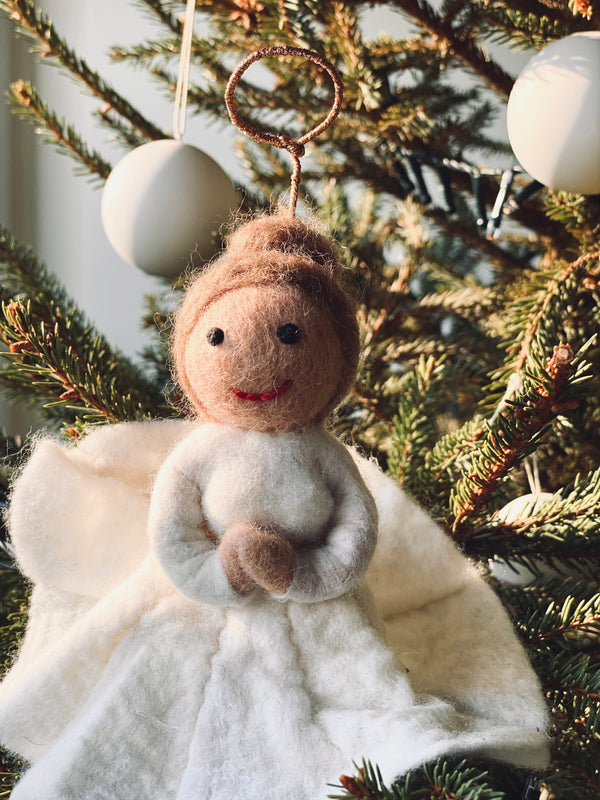 felt angel tree topper