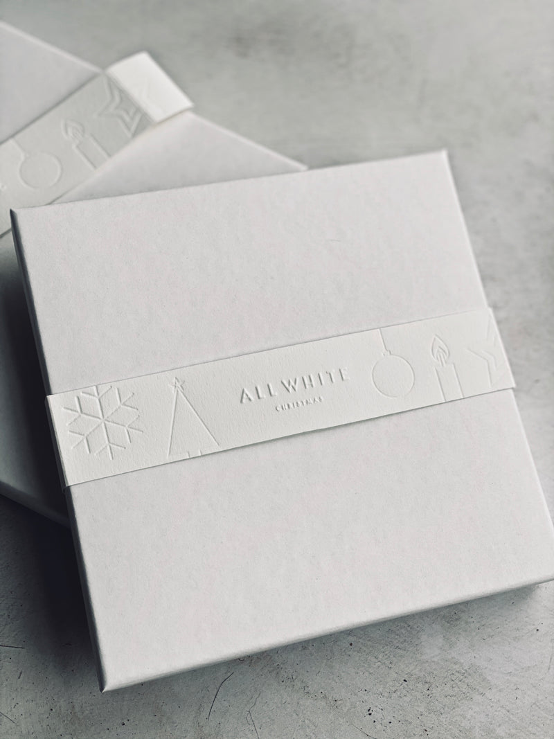 Limited edition letterpress greeting card set