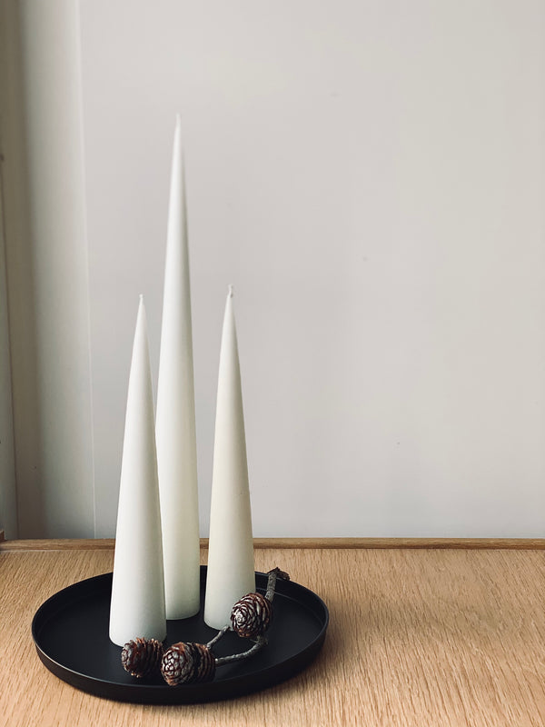black candle tray