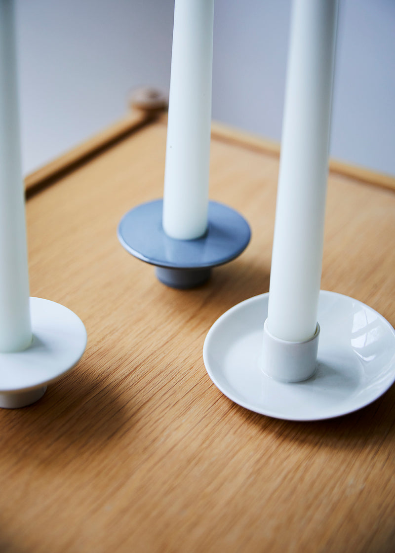 porcelain tilt candle holder