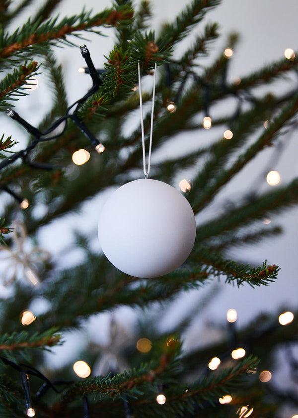 white matt porcelain hanging ball