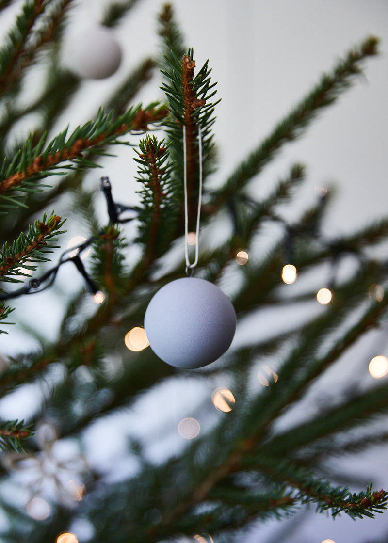 grey matt porcelain hanging ball
