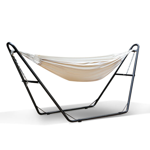Hammock with frame in cream