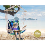 Hammock swing chair in blue green