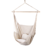 Outdoor swing hammock with cushions