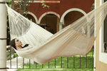 outdoor cotton hammock in cream, australian hammocks