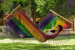 Resort style hammock rainbow queen