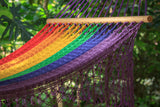 Woven hammock australia in rainbow colour