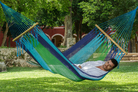 Green and blue hammock in queen size australia